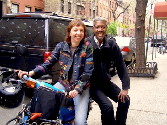Inga Bērziņa kopā ar saksofonistu Billy Harper, Ņujorkā