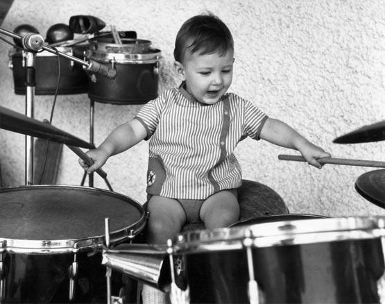 Jojo Mayer bērnībā. © www.jojomayer.com