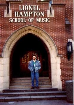 Madars Kalniņš pie Lionel Hampton mūzikas skolas