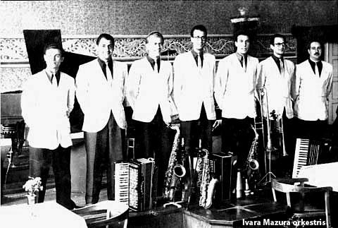 Mazura orķestris restorānā Korso 1955. gadā