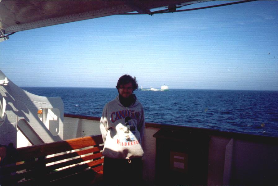 Indriķis Veitners IASJ tikšanās laikā uz kruīza kuģa Baltijas jūrā, 1995. gadā