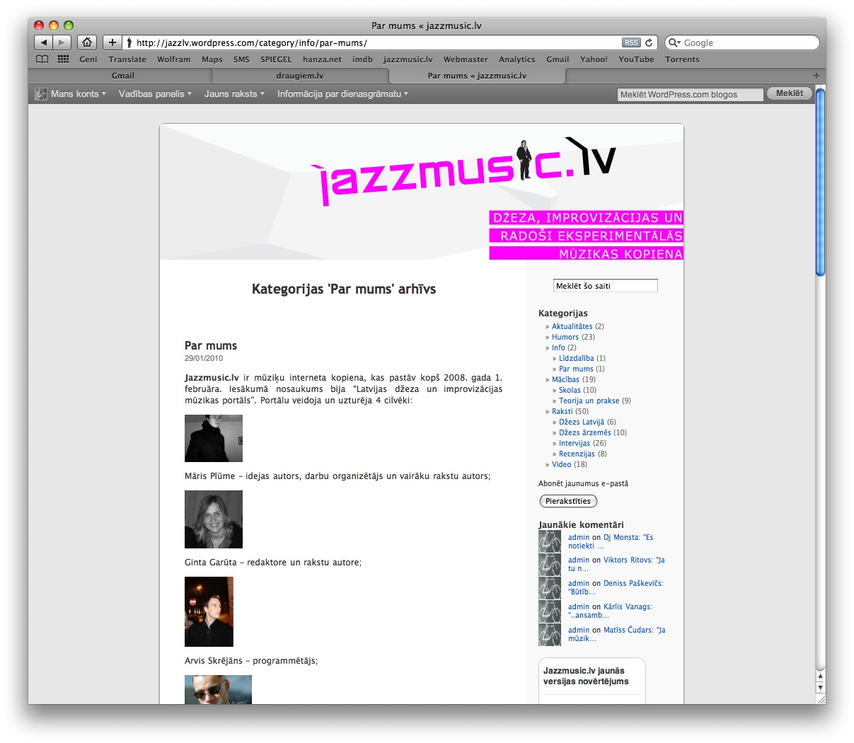 jazzmusic.lv screenshot