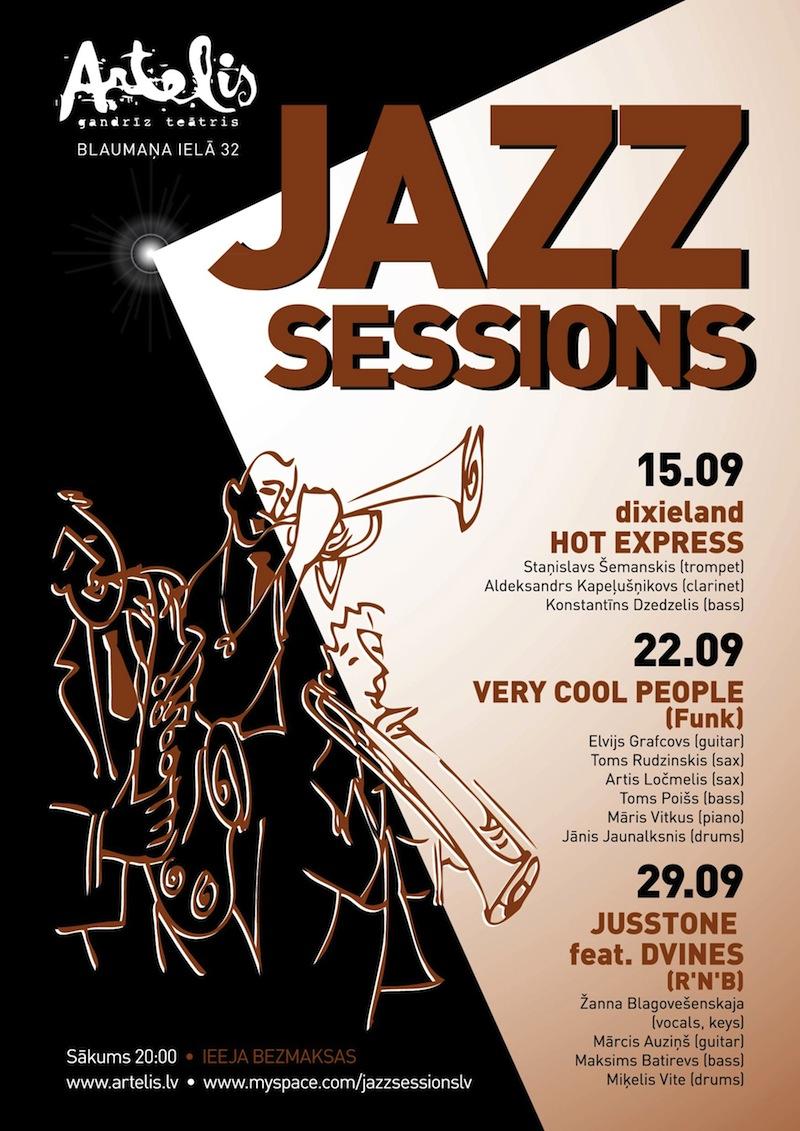 Jazz Sessions septembra programma klubā Artelis