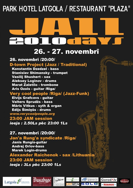 26.-27. novembri JAZZ DAYS