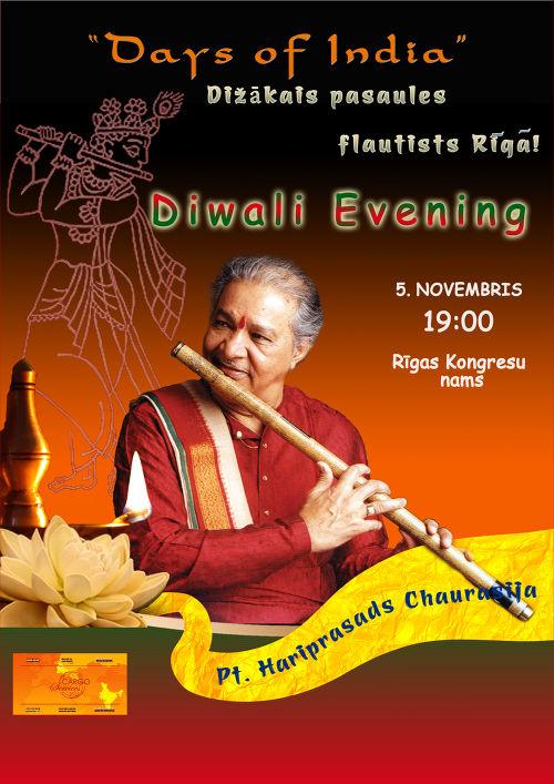Hariprasad Chaurasiya koncerta Rīgā afiša