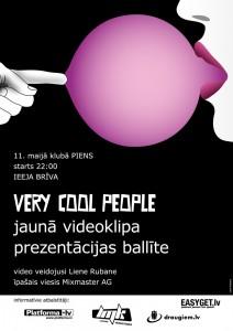 VCP jaunā videoklipa prezentācijas pasākuma plakāts
