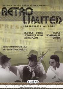 Retro Limited afiša koncertam kafejnīcā Bonēra